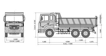 hyundai camiones veh culos comerciales buses camiones nuevos mixer tolva de reparto. Black Bedroom Furniture Sets. Home Design Ideas